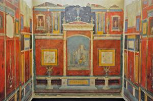 Fig. 2. Cubiculum B of the ancient Roman Villa Farnesina, newly reinstalled in the galleries of the Roman National Museums - Palazzo Massimo.